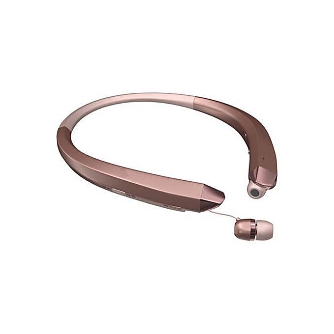 Bluetooth Headphone, NEW HBS-910 Tone Stereo CSR8635 Wireless Bluetooth HD  Headset Headphone(Rose Gold)