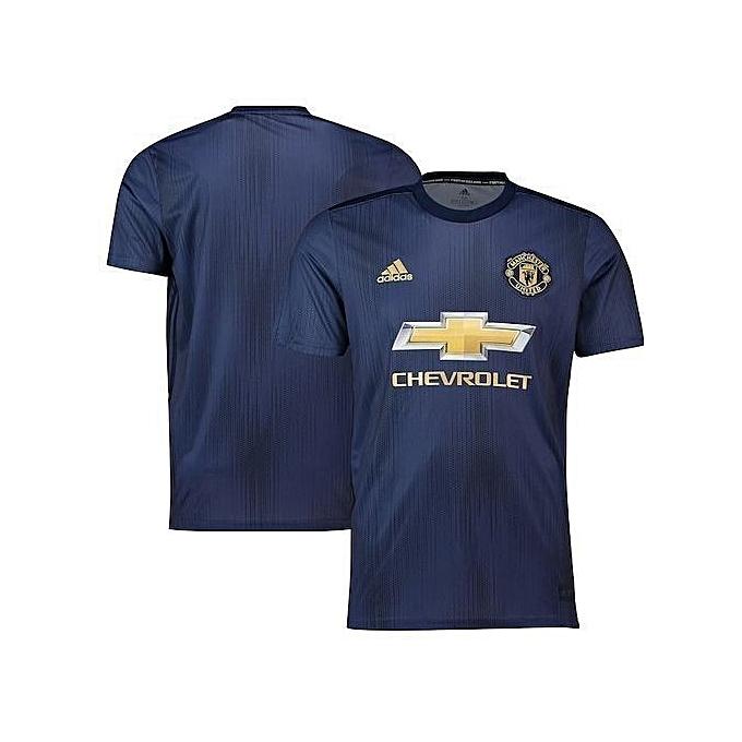 pretty nice 78890 eb330 Replica Manchester United Football Club 2018/2019 Replica Away Jersey -  Navy Blue