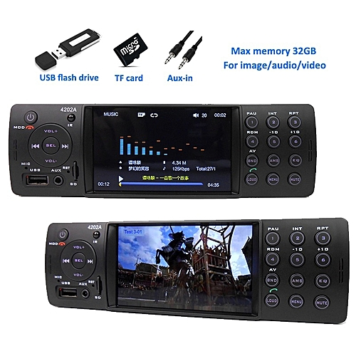 Buy Generic 4 Auto Radio Car Stereo 1 Din Bluetooth Autoradio Mp5