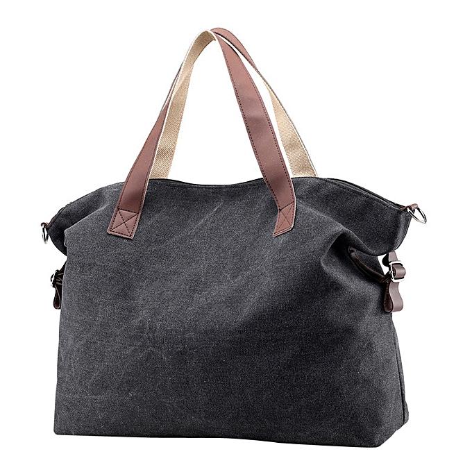 2b6a2072d3e Haimok Women Canvas Crossbody Bags Vintage Canvas Tote Handbags Big Bag  Black