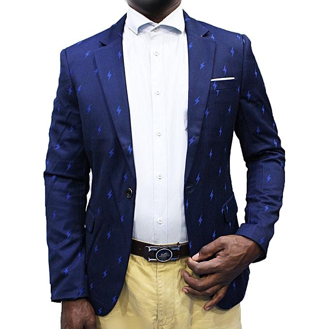 New Men's Slim-Fit Blazer - Navy Blue