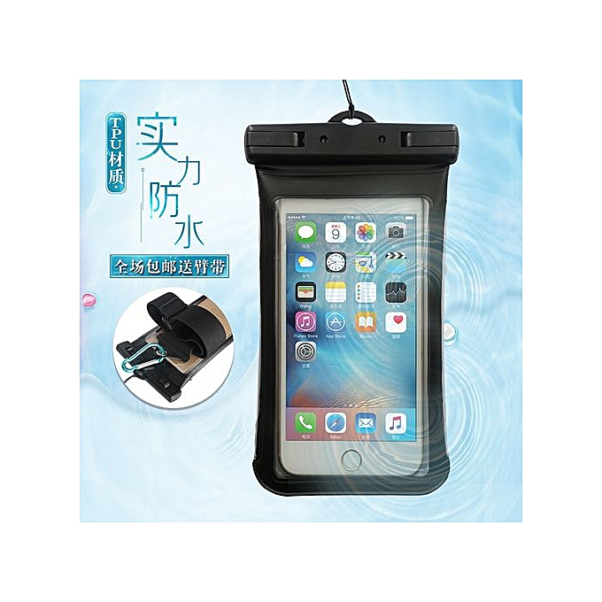 the best attitude 9cdf6 a0ab4 TPU Swimming Waterproof Phone Case Pouch For Iphone 5s 6s 7 Plus Samsung  S7edge S8 Xiaomi Mi6 Htc (White)
