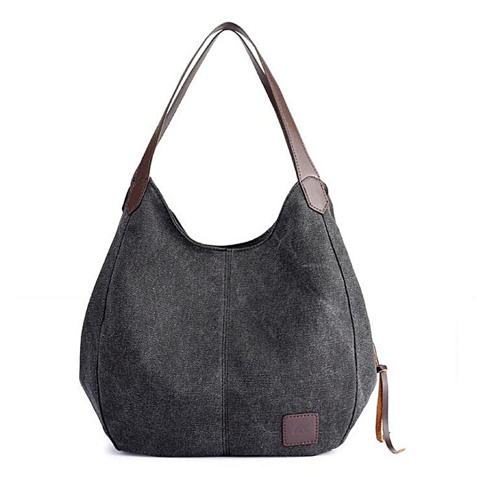 17cb8e07517 Women Vintage Ladies Large Canvas Handbag Travel Shoulder Bag Casual Tote  Purse #Black