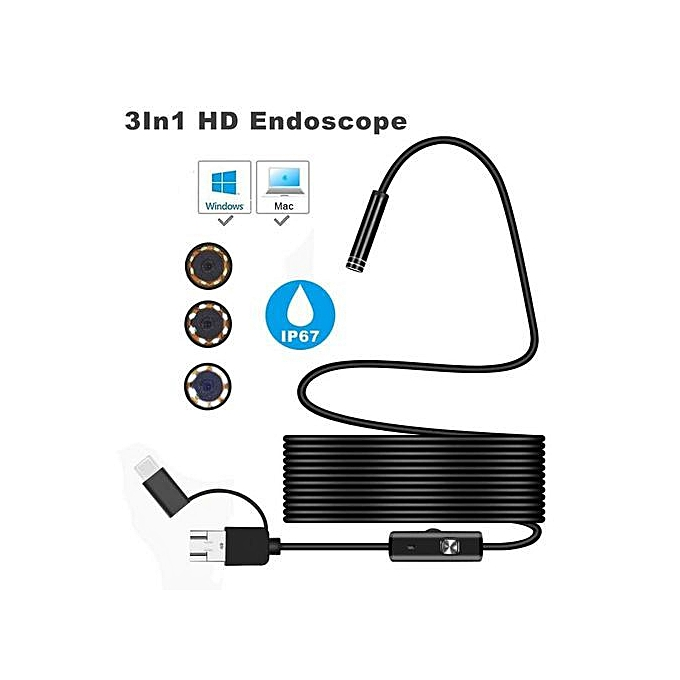 3in1 Android USB Type-C Endoscope Inspection 5 5mm Camera 6 LED Waterproof  1 5M