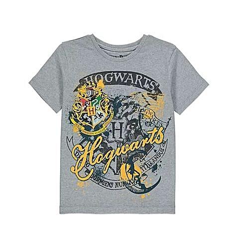 9d9122999 Buy Generic Boys Harry Potter Hogwarts T-shirt - Grey online | Jumia Uganda