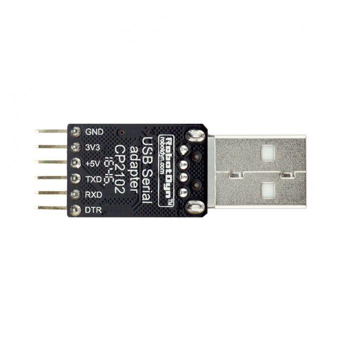 RobotDyn® USB-TTL UART Serial Adapter CP2102 5V 3 3V USB-A For Arduino