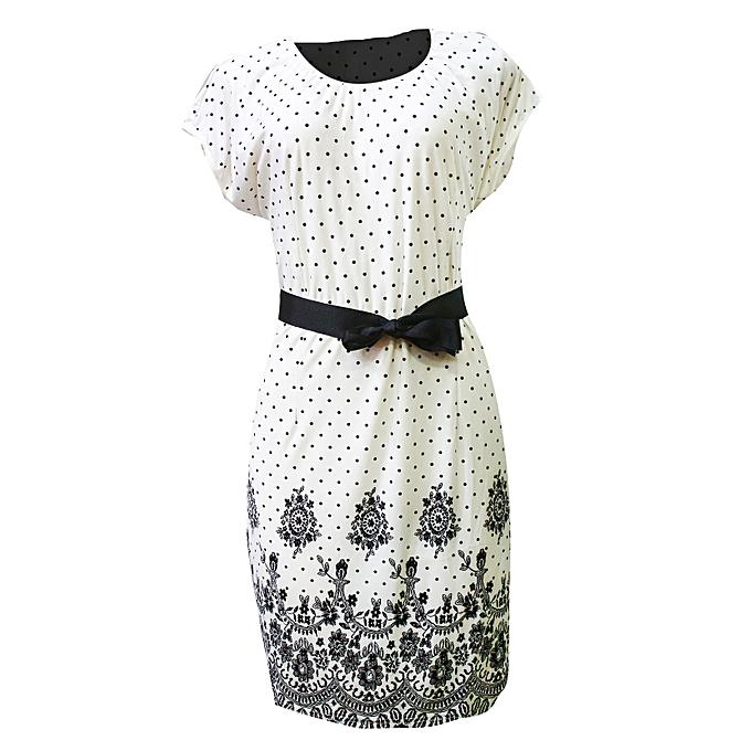 d080cb41a9e Polka Dot Midi Dress - Black, White