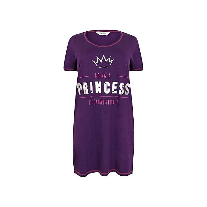 ... Ladies  Yours Being A Princess Is Exhausting Nightshirt - Purple ... ea5be713c
