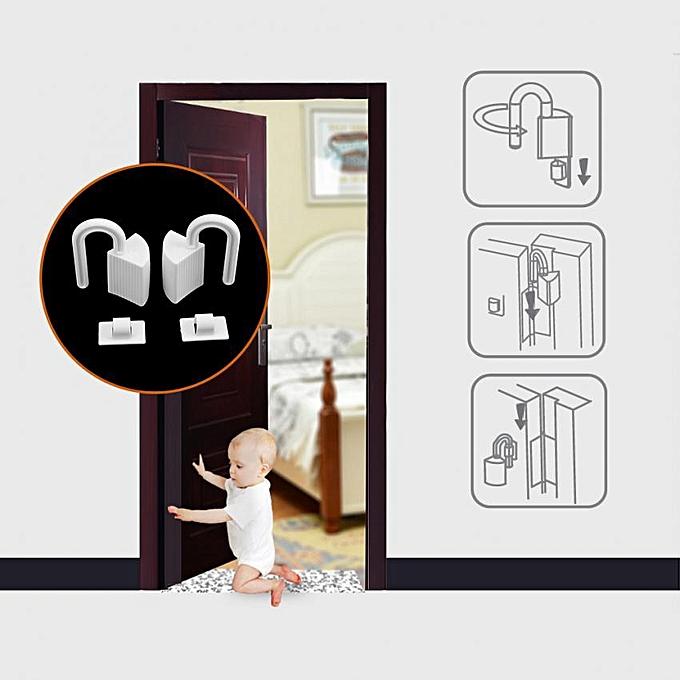 2pcs Baby Kids Children Finger Hands Protector Door Hinge Plastic Pinch  Guard Safety Stopper