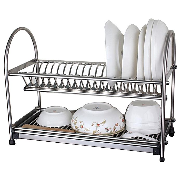 dish rack drainer for utensils and cutlery