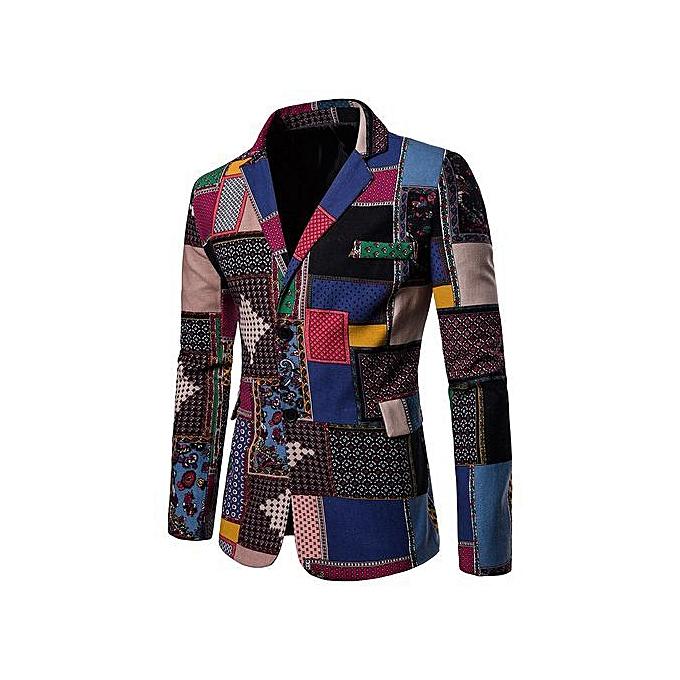 Blazers Jumia: Buy FASHION Casual Split Back Pockets Blazer,Multi Online