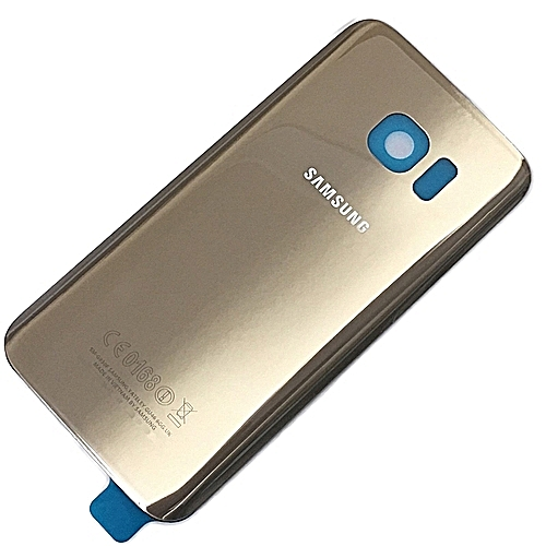 watch 8e531 6ade5 Gold Rear Back Battery Cover Glass For Samsung Galaxy S7 Edge