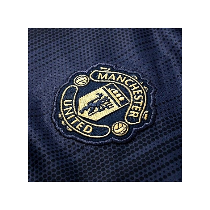 55234495a24 ... Replica Manchester United Football Club 2018 2019 Replica Away Jersey - Navy  Blue