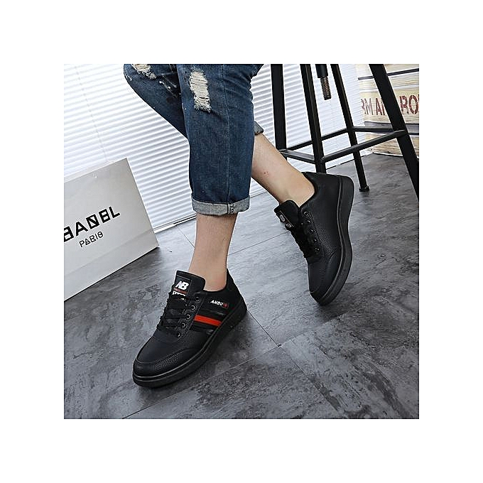 3a03b95cf4a Buy FASHION Leather Lace Up Casual Shoes Men Sneakers-red online ...
