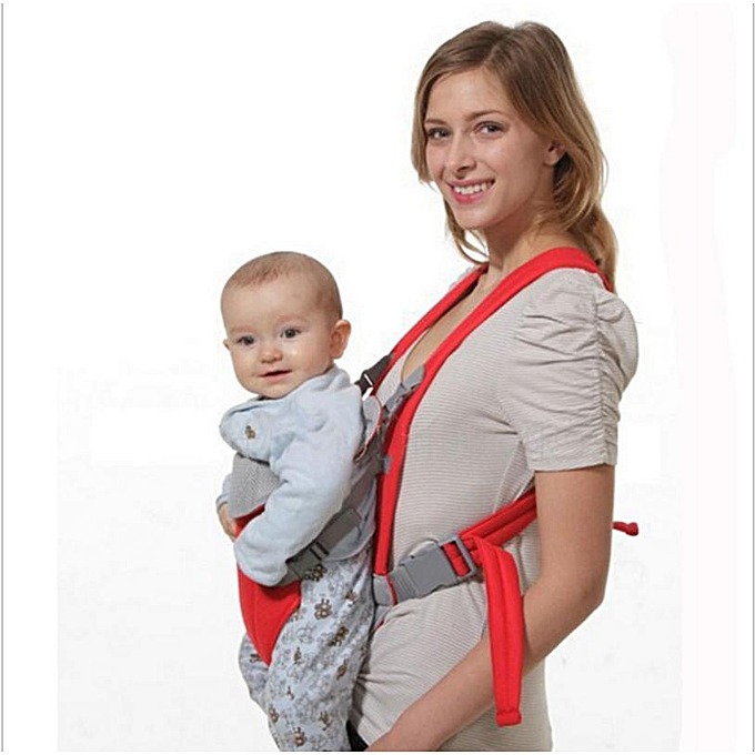 1pc Newborn Infant Baby Carrier Backpack Breathable Front Back Carrying Wrap Sling Seat Red
