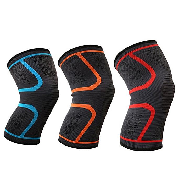 Knee Compression Sleeves Neoprene 7mm for Men & Women for Cross Training  Gym Red L