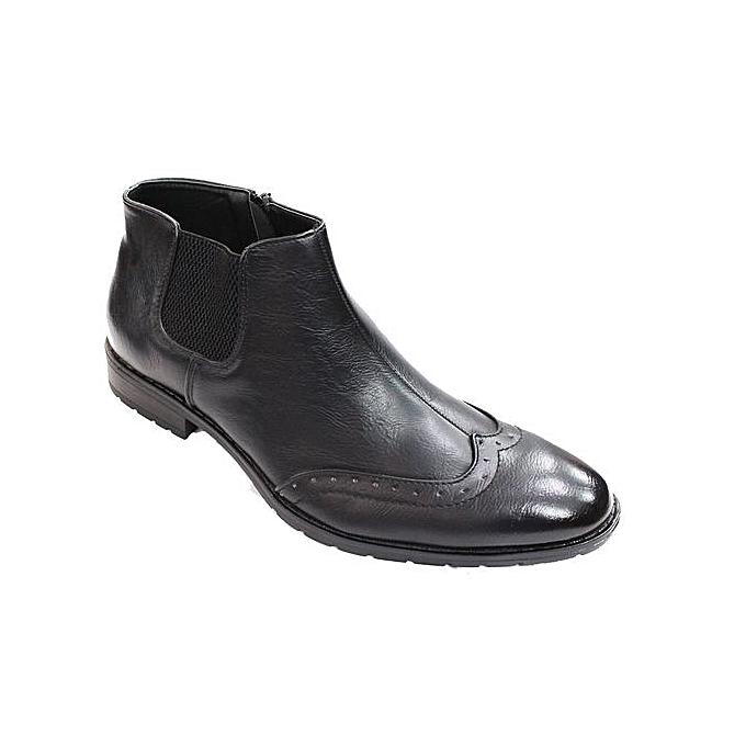 Generic Men s Oxford Boots - Black  6b17b3493