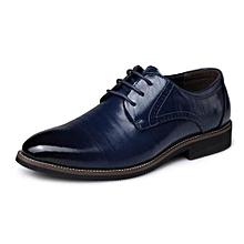 b7e3c17a880dc8 Men's Basic Flat Fiber Gentle Wedding Formal Shoes - NavyBlue
