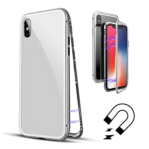 best cheap 82ef1 9b322 For iPhone X Magnetic Adsorption metal Case Cover 5.8inch +Camera Lens  Screen