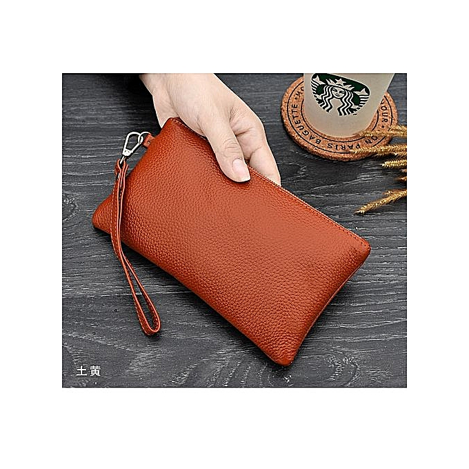 2fd4fec765f57 Style Women's PU Leather Wallet Simple Clutch Bag Mobile Phone Bag Leisure  Bag—brown