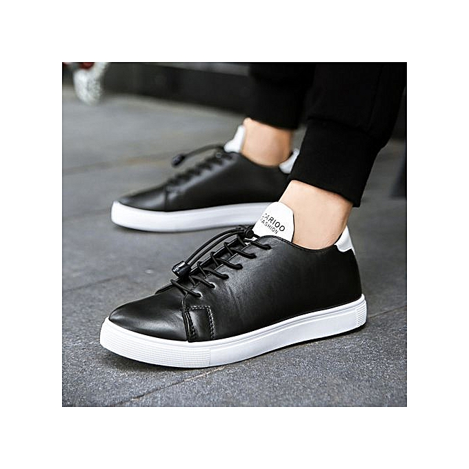 64c1c5a06f57 New Casual Shoes Mens Leather Flats Lace-Up Shoes Simple Stylish Male Shoes  Large Sizes Oxford Shoes For Men-black