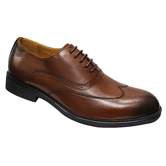 15294b1c6973c6 Buy Generic Leather Lace-up Oxford Shoes - Brown online | Jumia Uganda