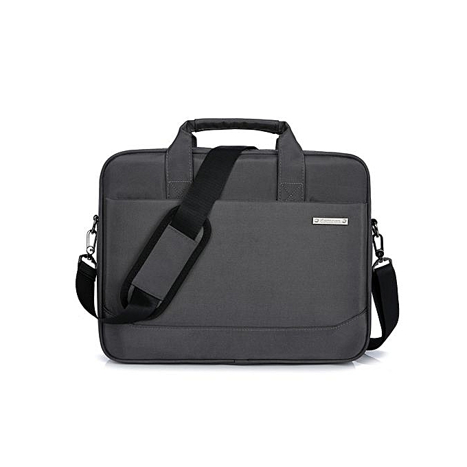bb1bb0571419 15 inch unisex waterproof laptop bag shoulder business briefcase-grey