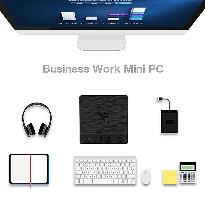 BT3 PRO Support for Windows 10 TV Box Intel Atom x5-Z8350 64 bit Intel HD  Graphics 400 4G/64G H 265 UHD 4K Mini PC 2 4G & 5 0G Dual WiFi 1000M LAN