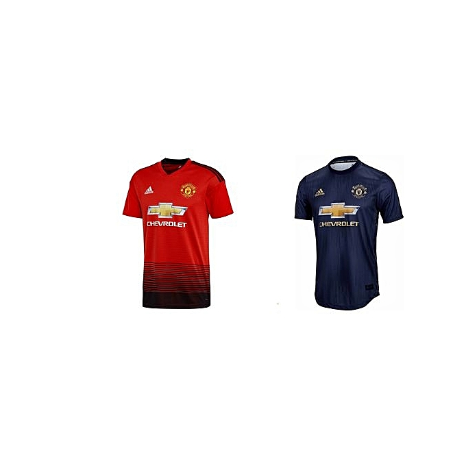 51b19ea29a1 Generic 2 Replica Manchester United Home and Away Jerseys 2018 19 ...