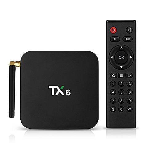 TX6 Android 9 0 TV Box Allwinner H6 Smart 4K Set Top Box 4GB RAM 64GB ROM  2 4G / 5G WiFi 100Mbps USB3 0 BT4 1 H 265 DLNA HD Media Player