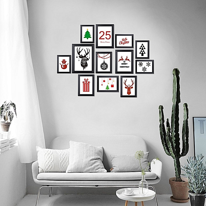 Generic 12 Pack Picture Frames Collage Photo Frames Wall Gallery Kit ...