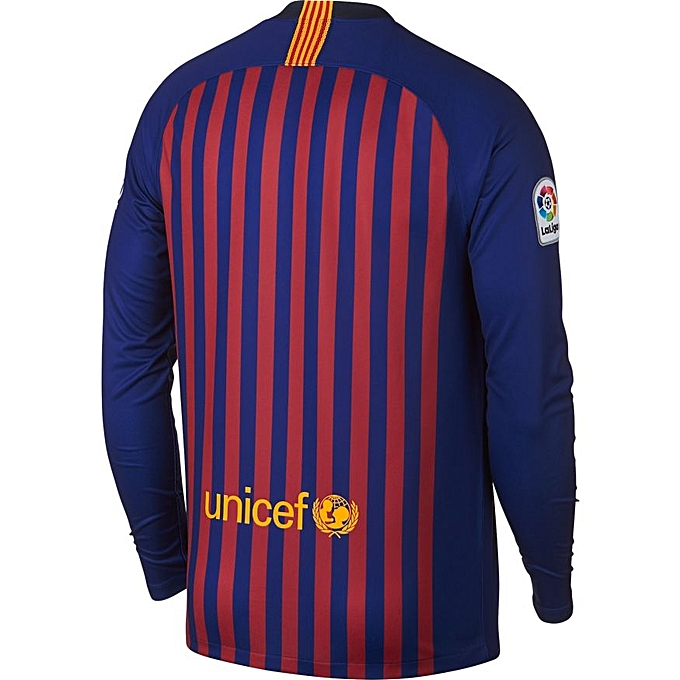 Generic Fc Barcelona Home replica long sleeve jersey 2018 19 - Blue ... fa274df74
