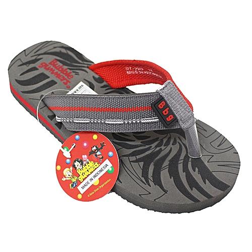 536520d09616 Bata 377-2043 Kids Slide Flip Flops - Grey