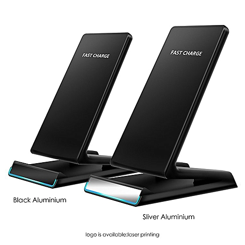 G500Wireless Charger Qi Certified 10W Fast Wireless Charging Pad Stand Black