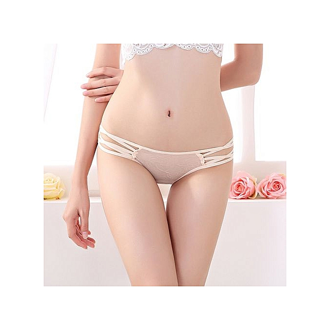046ed99bf109 Refined Sexy Cute Ladies Panties With Briefs Low Waist Women's Underwear  Perspective Pants-apricot