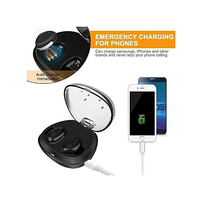 Bluetooth Earbuds, I8S Ture Wireless Earphones Touch Control Headphone Mini  Sports Headsets With Mic & Charging Case - Black