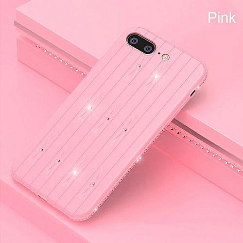new concept 68589 a0f60 Flexible Fitted Phone Cases For IPhone 8 Soft TPU Anti Skid Shock Resistant  Full Protecting For IPhone 8 Cases - Pink