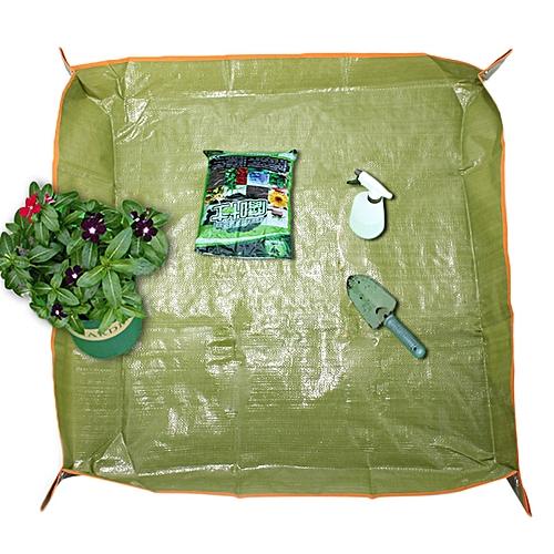 35x35 Inch PE Coating Flower Pot Ground Cloth Gardening Transplant Pruning  Ground Mat