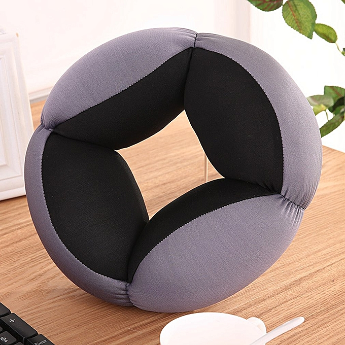 Office Lunch Desk Break Ostrich Cushion Pillow Breathable Lazy Nap Pillow Black