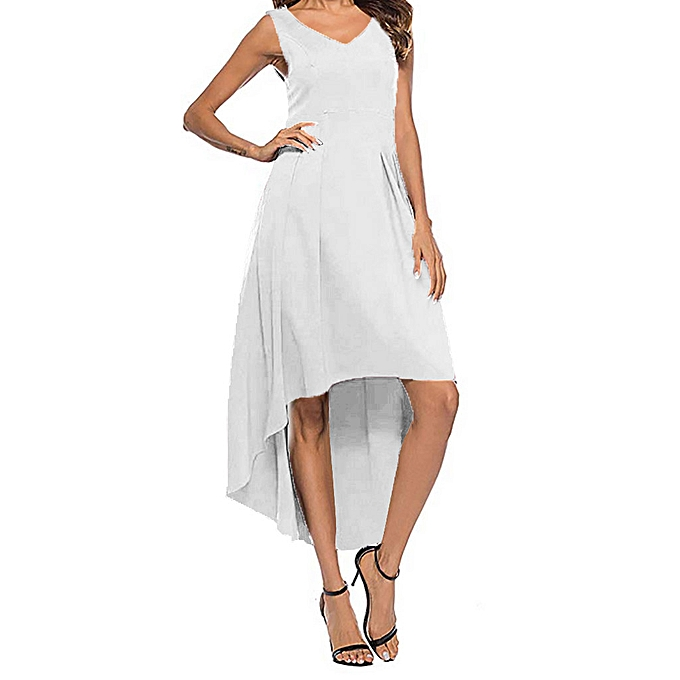 27ab22dcafbca Women's Summer Fashion V-neck Strapless Slim Solid Color Dress