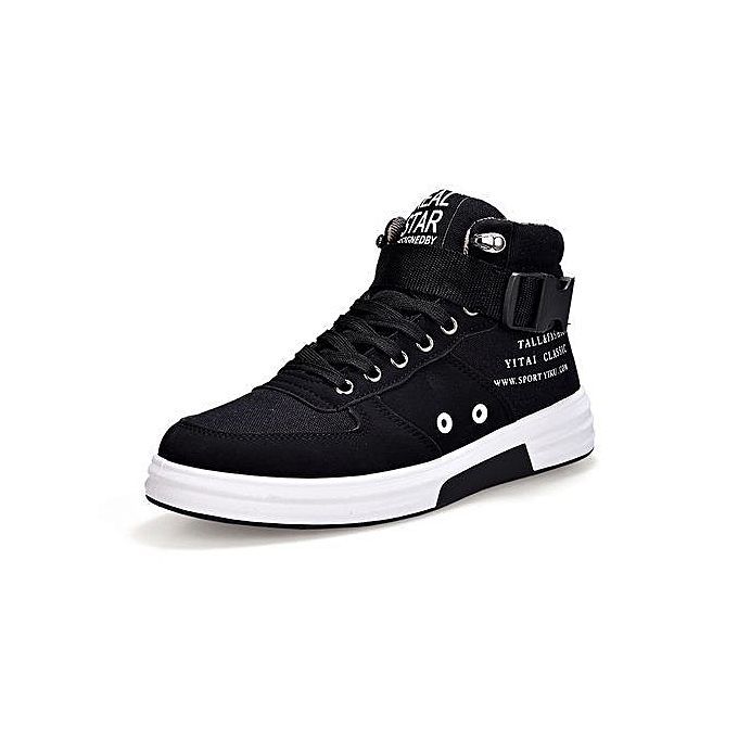 7dcc38e13d0 New Winter Front Lace-Up Casual Ankle Boots Autumn Shoes Men Wedge Fur Warm  Leather Footwear-black