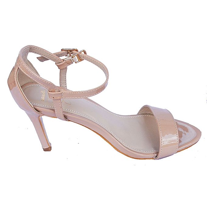 ... Bata 761-8044 Ankle Strap High Heel Sandals - Beige ...