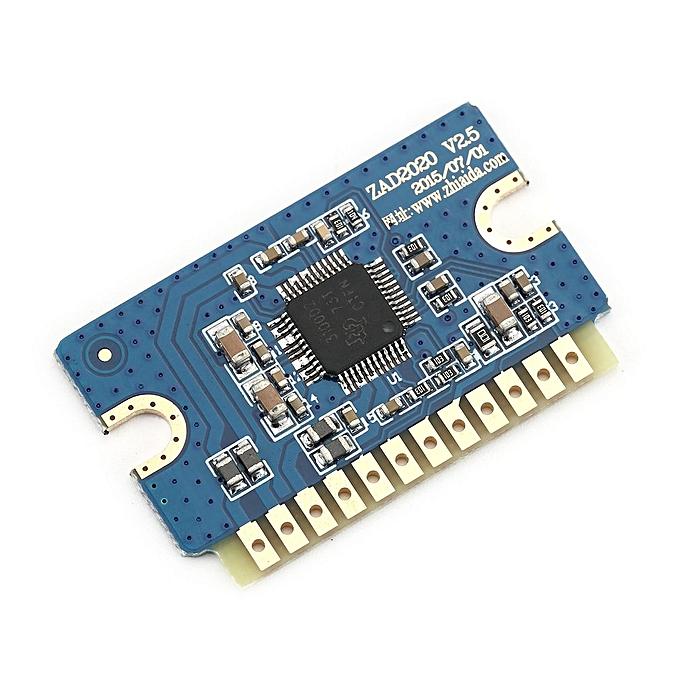 YL2020 2x20W Mini Stereo Audio Amplifier Board Dual Channel Good Sound  Effects Blue