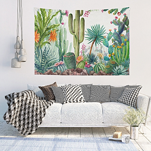 70238aa2add18 Hiamok Beautiful Flowers Cactus Tapestry Wall Furniture Bedspreads Shower  Curtains