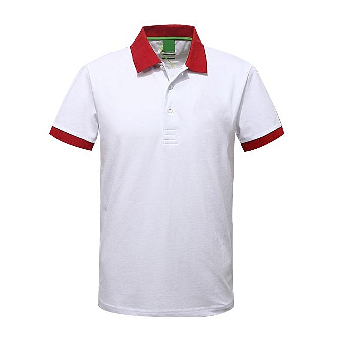 8ba2ea11 Buy Other Men's Polo T-Shirt- White , Red Collar. online | Jumia Uganda