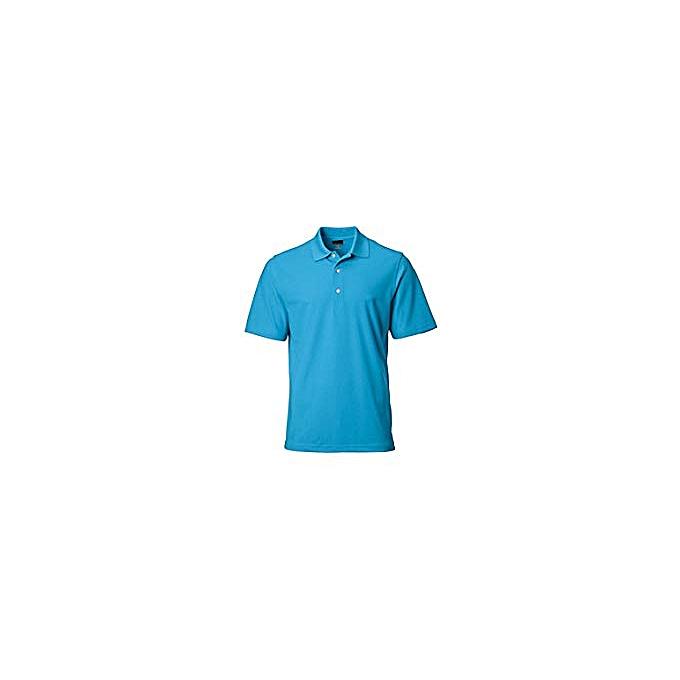 12896e19cf5c Generic Men's Modern Fit Cotton Tech Classic Polo T-shirt - Light ...
