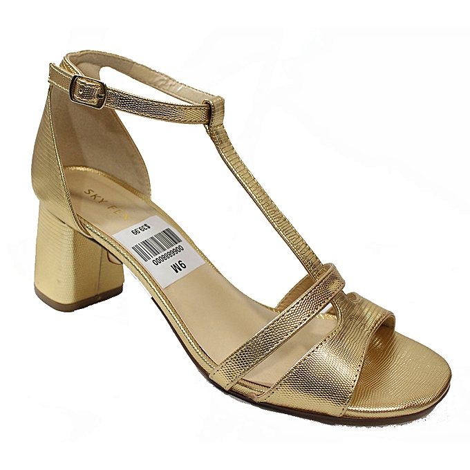 bd2352f2393 Generic T-Strap Block Heel Shoes - Gold