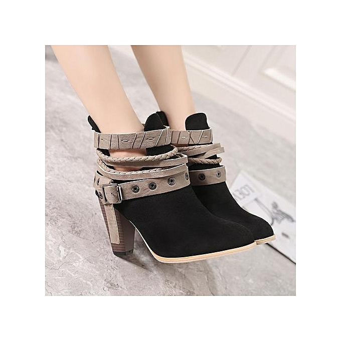 9cf1129234daaf Buy Generic Stylish Size 35-42 Autumn And Winter Ankle Strappy ...