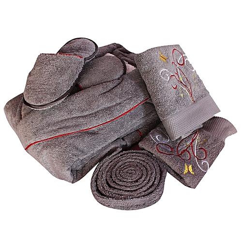 ec527d423884 - Bath Robe Set – Grey