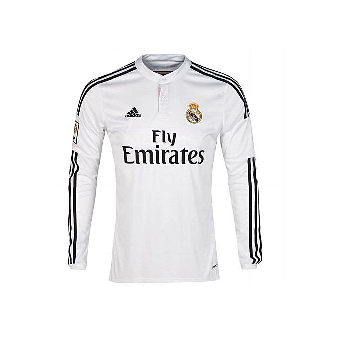 new products 092a6 27ef1 Replica Real Madrid 2018/19 Long Sleeve Jersey - White